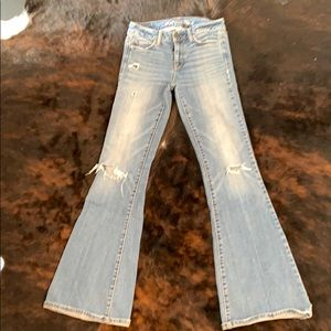 American Eagle stretch flare bell bottoms 00